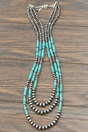 JChronicles Natural Heishi-Turquoise Navajo-Pearl Necklace - Product Mini Image