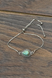 JChronicles Natural Turquoise Adjustable-Bracelet - Product Mini Image