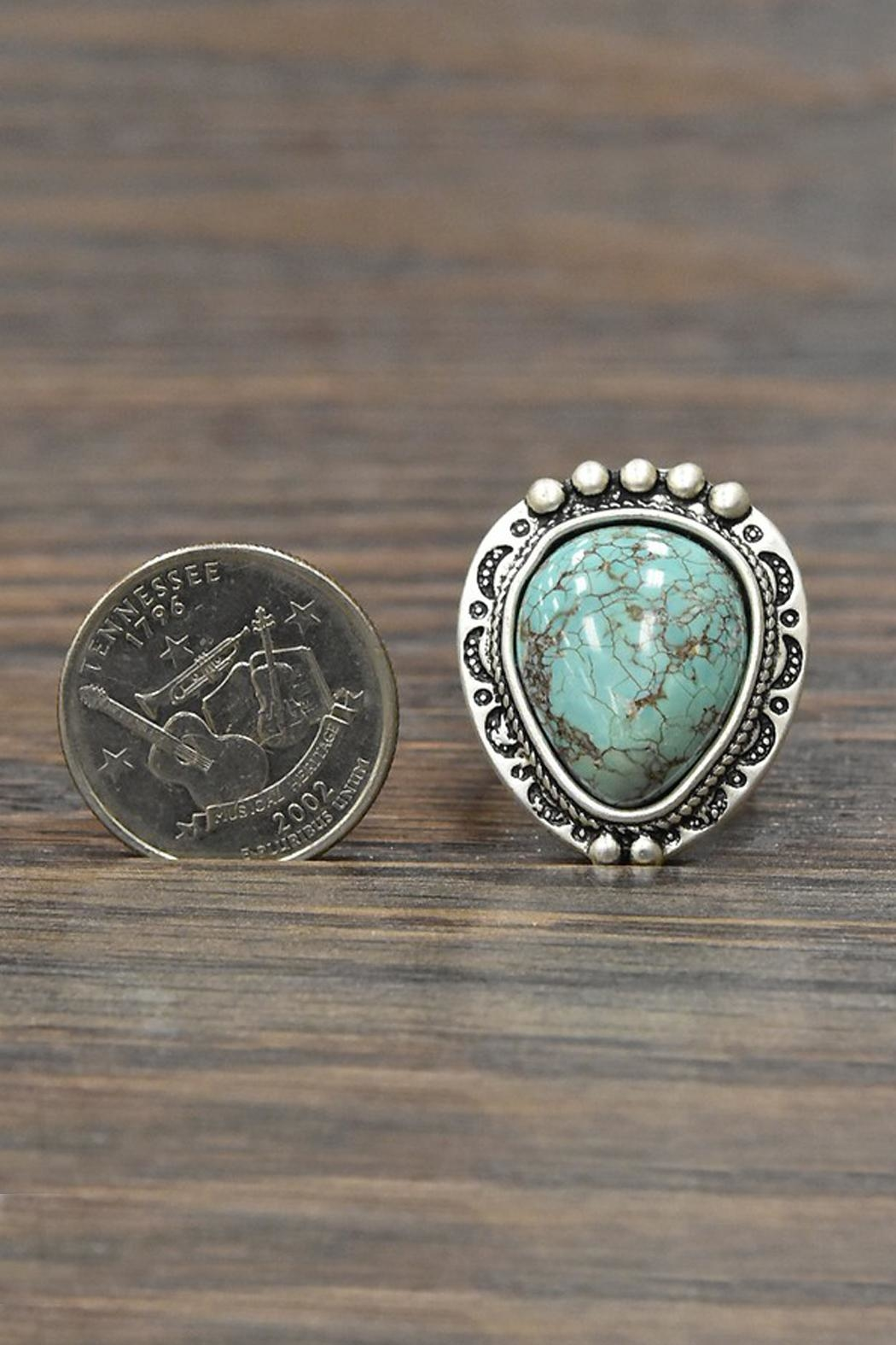 JChronicles Natural Turquoise Adjustable Ring - Side Cropped Image
