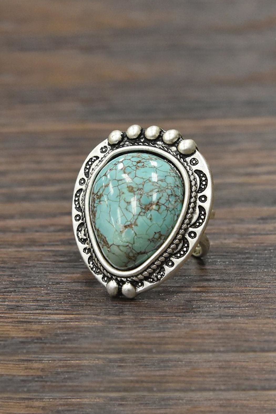 JChronicles Natural Turquoise Adjustable Ring - Main Image