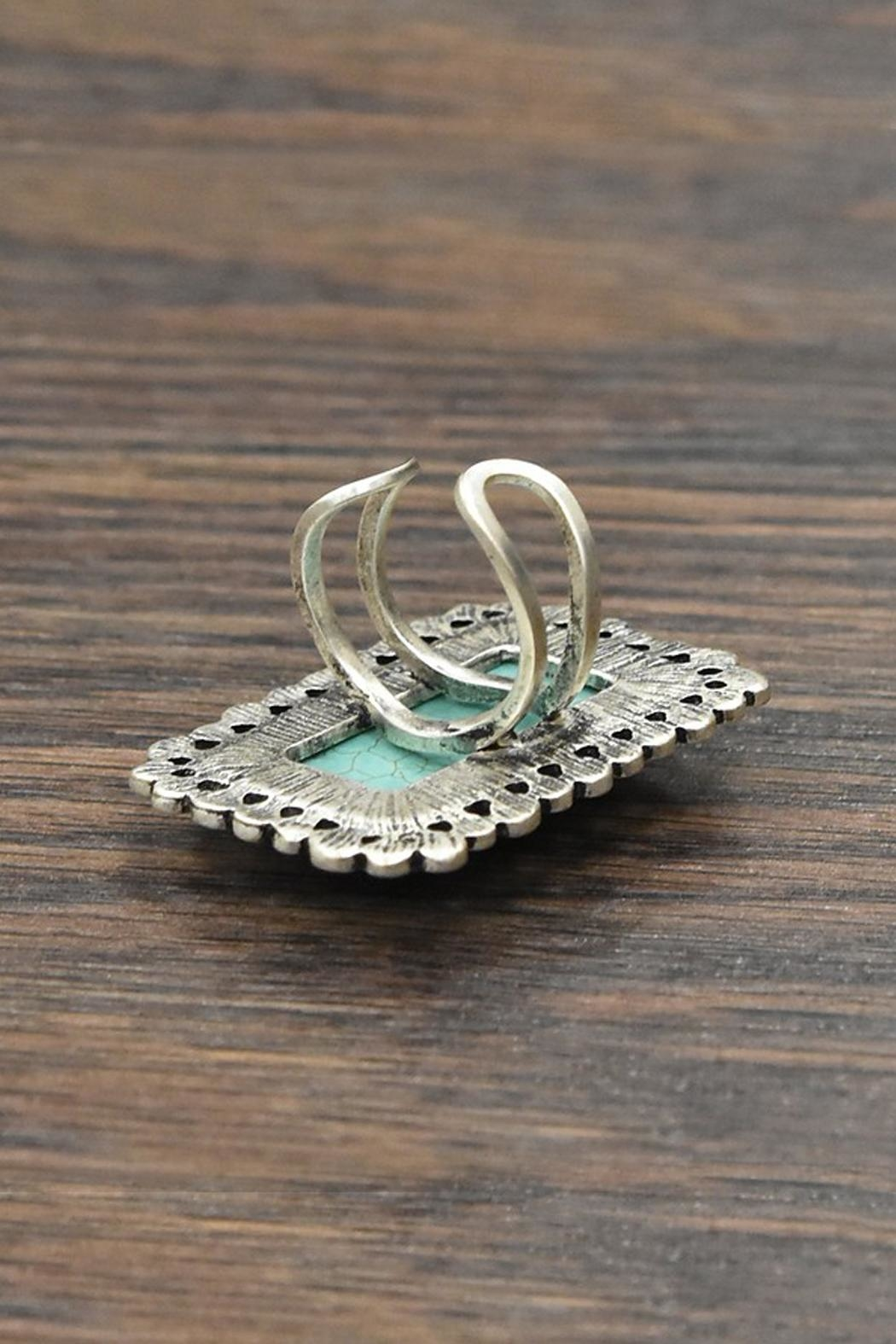 JChronicles Natural-Turquoise Adjustable-Ring - Front Full Image