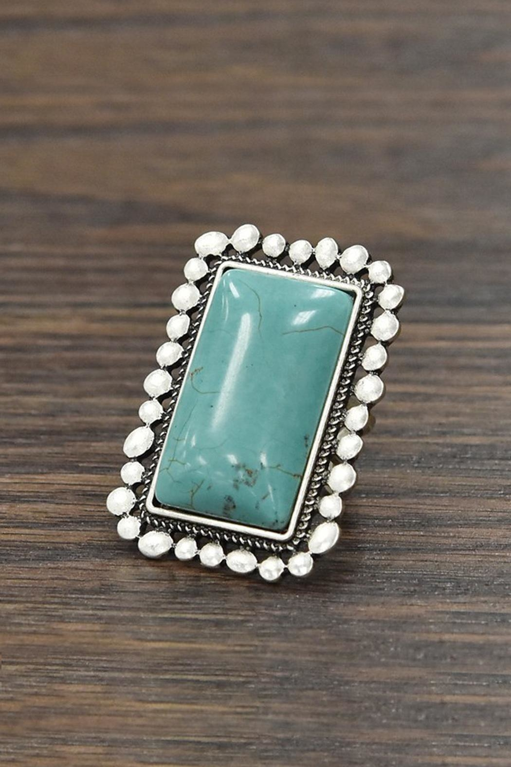 JChronicles Natural-Turquoise Adjustable-Ring - Main Image