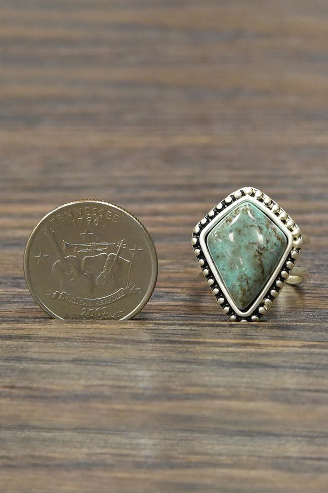 JChronicles Natural Turquoise Adjustable-Ring - Side Cropped Image