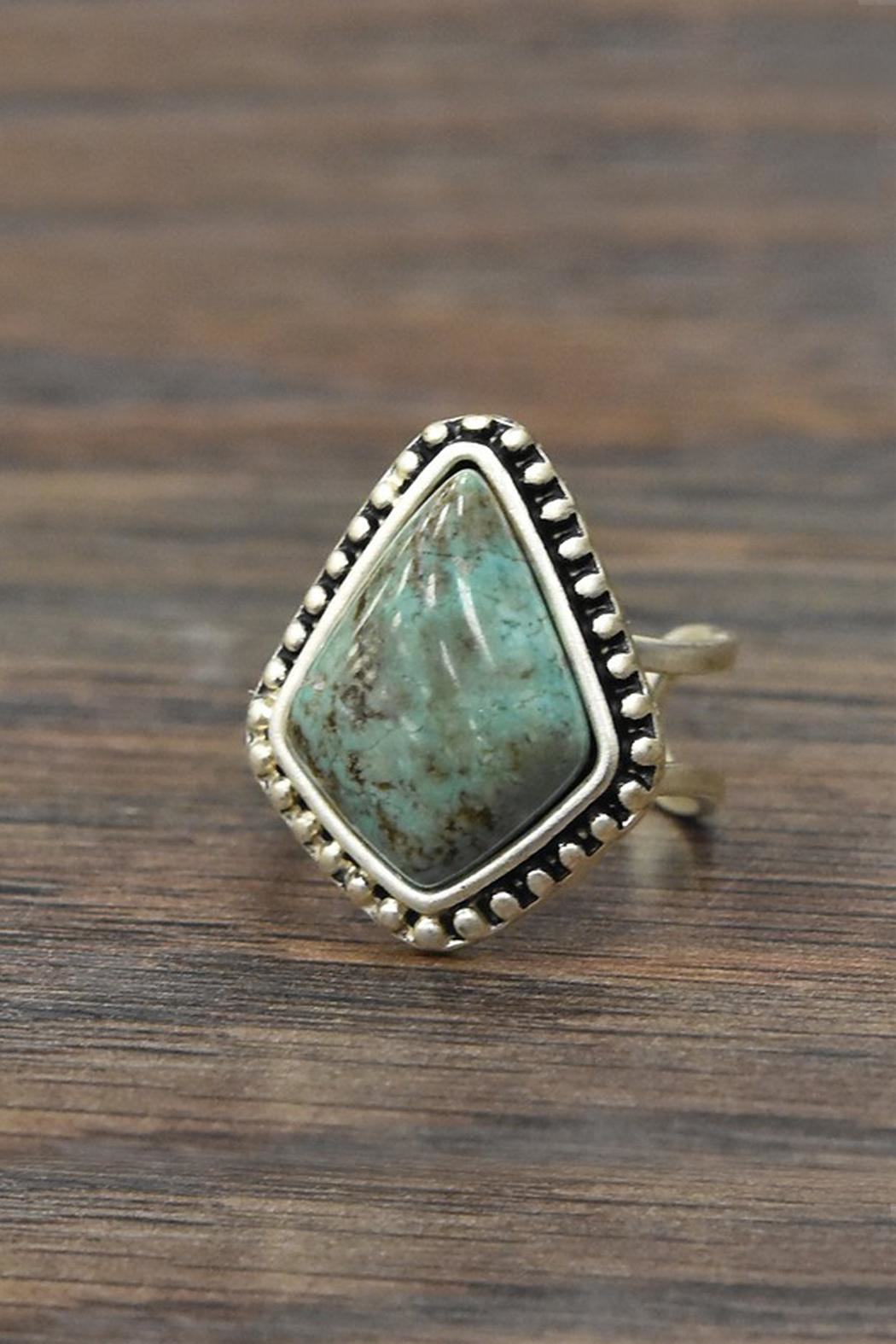 JChronicles Natural Turquoise Adjustable-Ring - Main Image