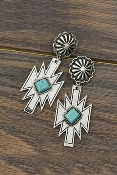 JChronicles Natural-Turquoise Aztec Post-Earrings - Product List Image