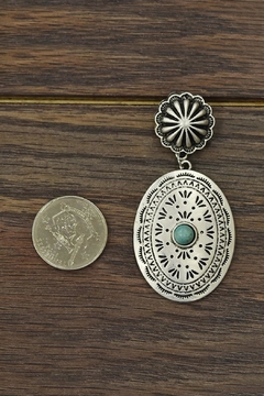 JChronicles Natural-Turquoise Concho Earrings - Alternate List Image
