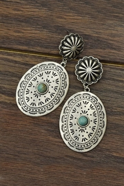 JChronicles Natural-Turquoise Concho Earrings - Product Mini Image