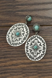 JChronicles Natural-Turquoise Concho Post-Earrings - Product Mini Image