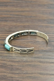 JChronicles Natural Turquoise Cuff-Bracelet - Front full body