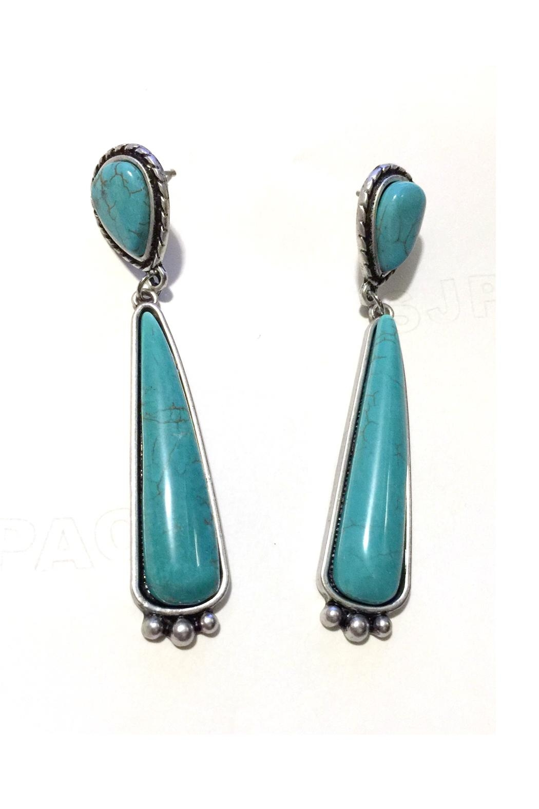JChronicles Natural Turquoise Earring - Front Full Image
