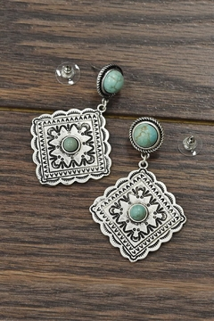 JChronicles Natural Turquoise Earrings - Product List Image