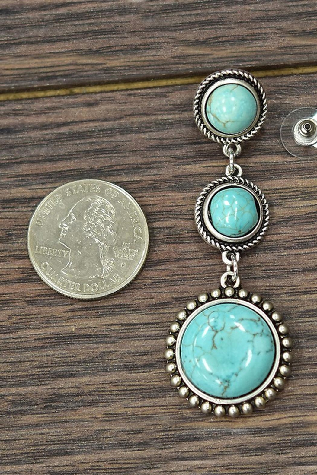JChronicles Natural Turquoise Earrings - Front Full Image