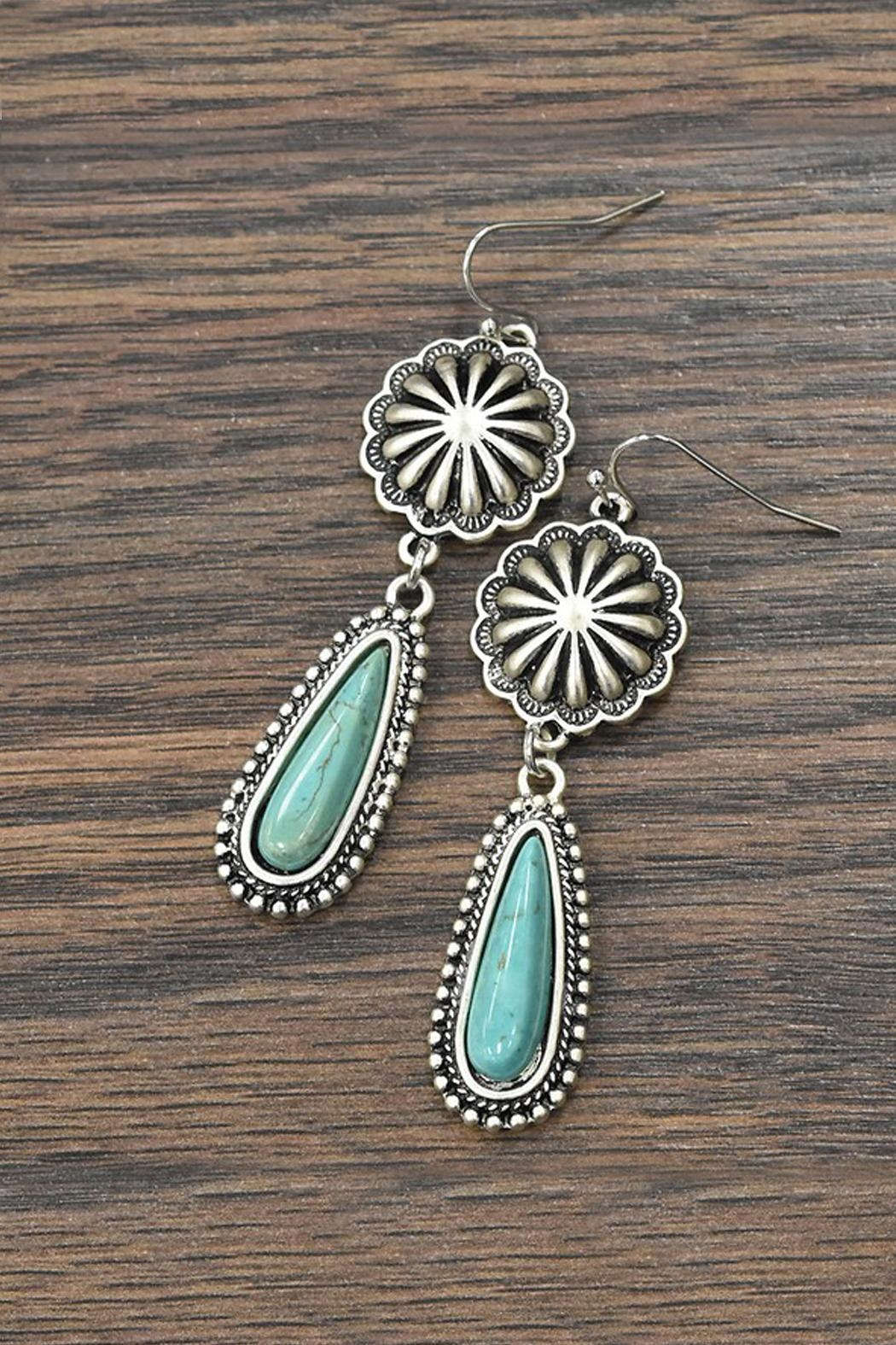 JChronicles Natural Turquoise Earrings - Main Image