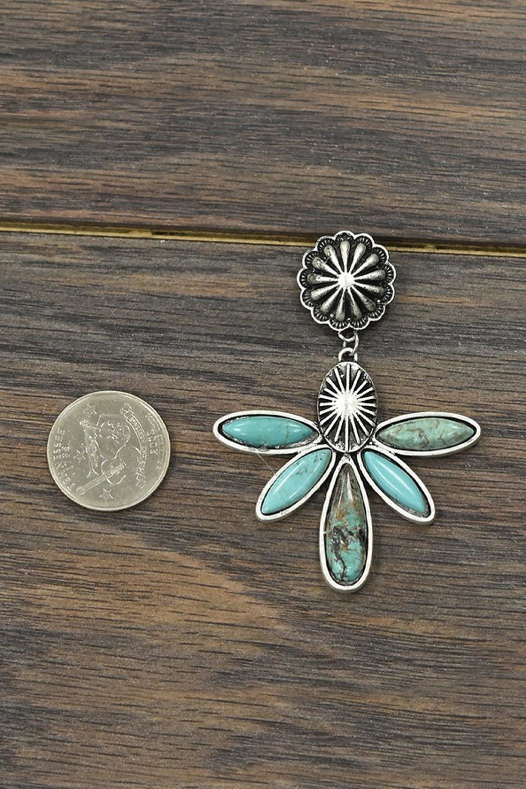 JChronicles Natural Turquoise Post-Earrings - Front Full Image