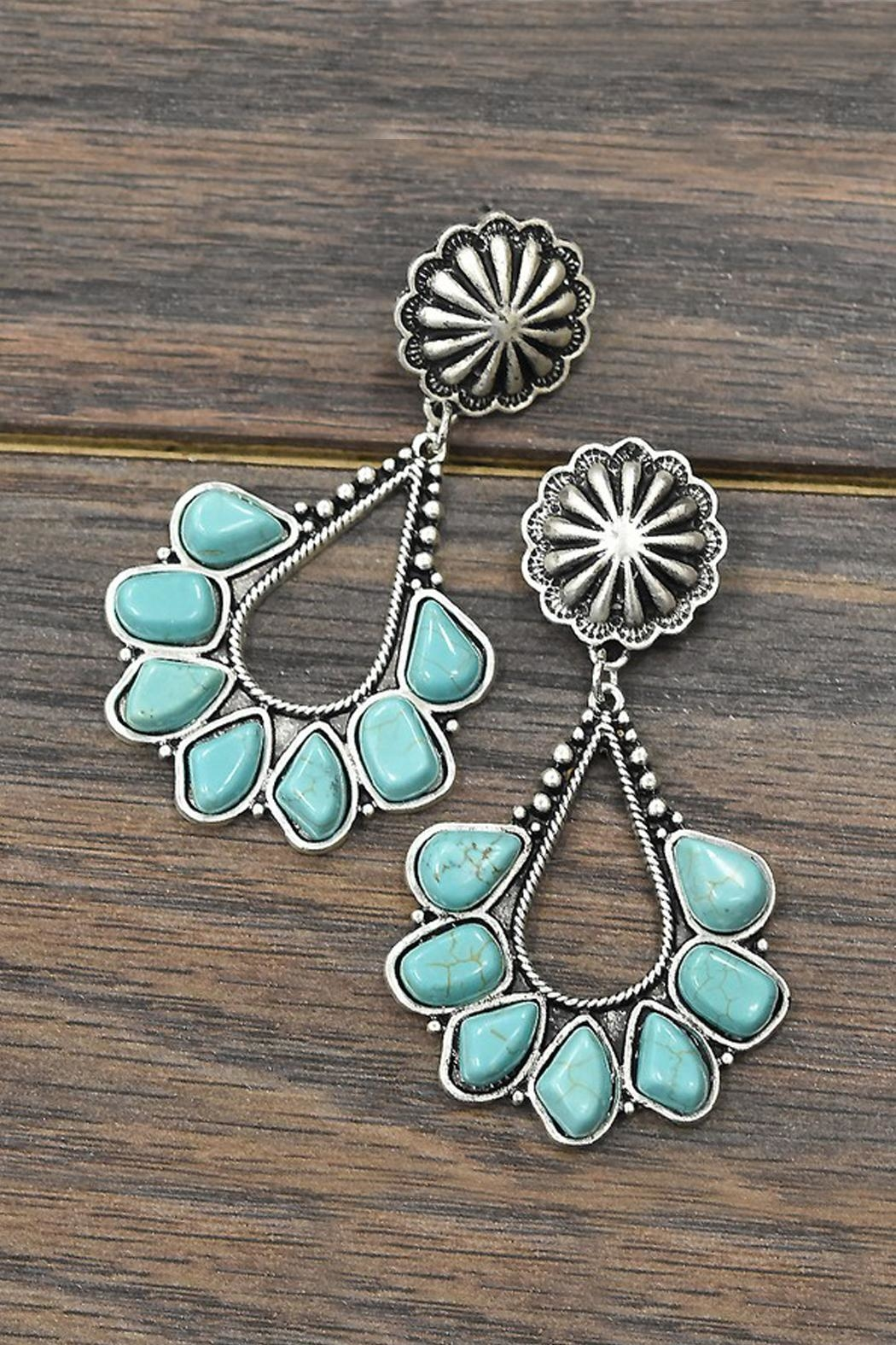 JChronicles Natural Turquoise Post-Earrings - Main Image