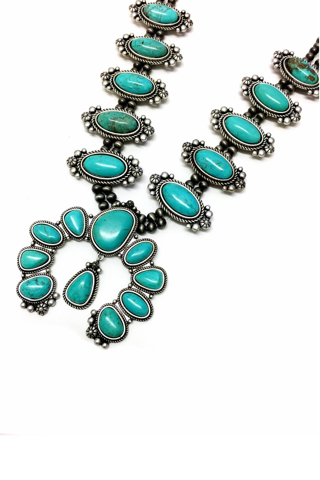 JChronicles Natural Turquoise Squash Necklace - Front Full Image