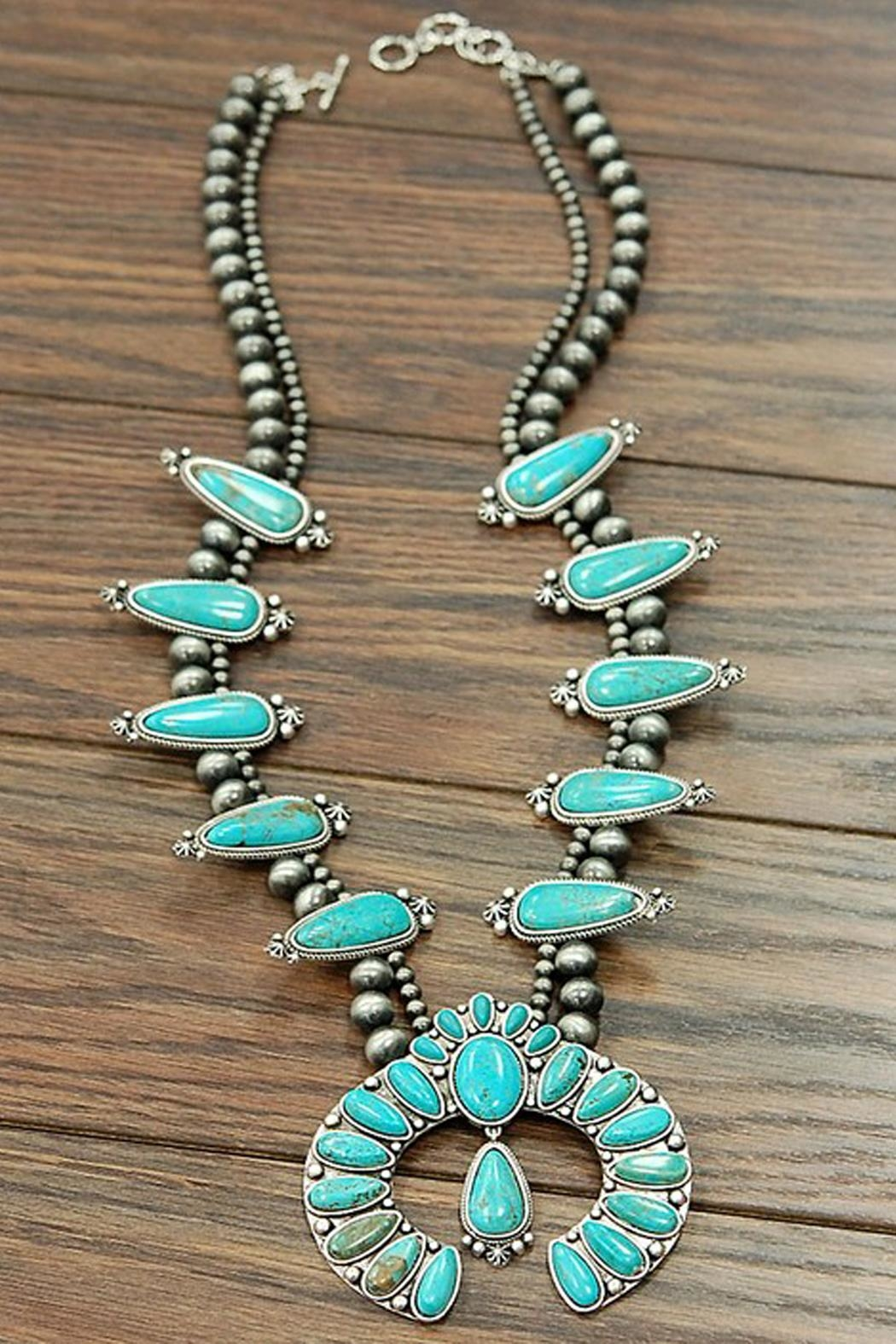 JChronicles Turquoise Squash Blossom Necklace - Side Cropped Image