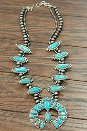 JChronicles Turquoise Squash Blossom Necklace - Side cropped