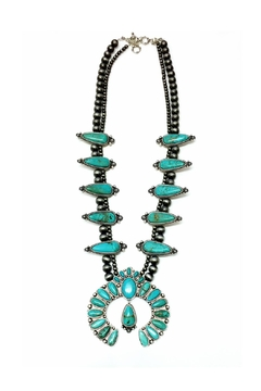 JChronicles Turquoise Squash Blossom Necklace - Product List Image