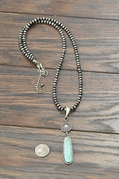 JChronicles Natural-Turquoise-Stone Navajo Long-Necklace - Alternate List Image