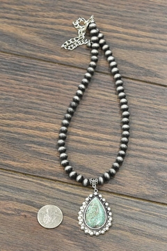 JChronicles Natural-Turquoise-Stone Navajo-Pearl Necklace - Alternate List Image
