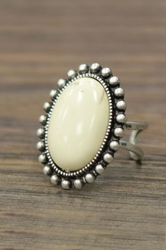 JChronicles Natural-White-Turquoise Adjustable Ring - Product List Image