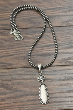 JChronicles Natural White Turquoise Necklace - Product List Image