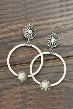 Shoptiques Product: Natural White Turquoise Post Earrings