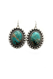 JChronicles Oval Turquoise Earrings - Front cropped