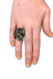 JChronicles Peacock Rhinestone Ring - Back cropped