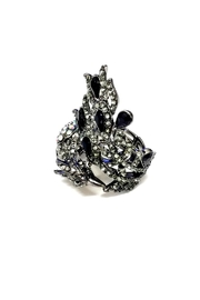 JChronicles Peacock Rhinestone Ring - Front full body