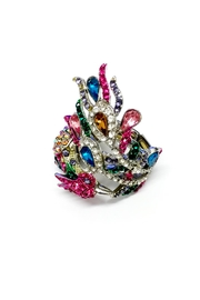JChronicles Peacock Rhinestone Ring - Product Mini Image
