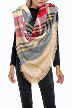 JChronicles Plaid Square Scarf - Product List Image