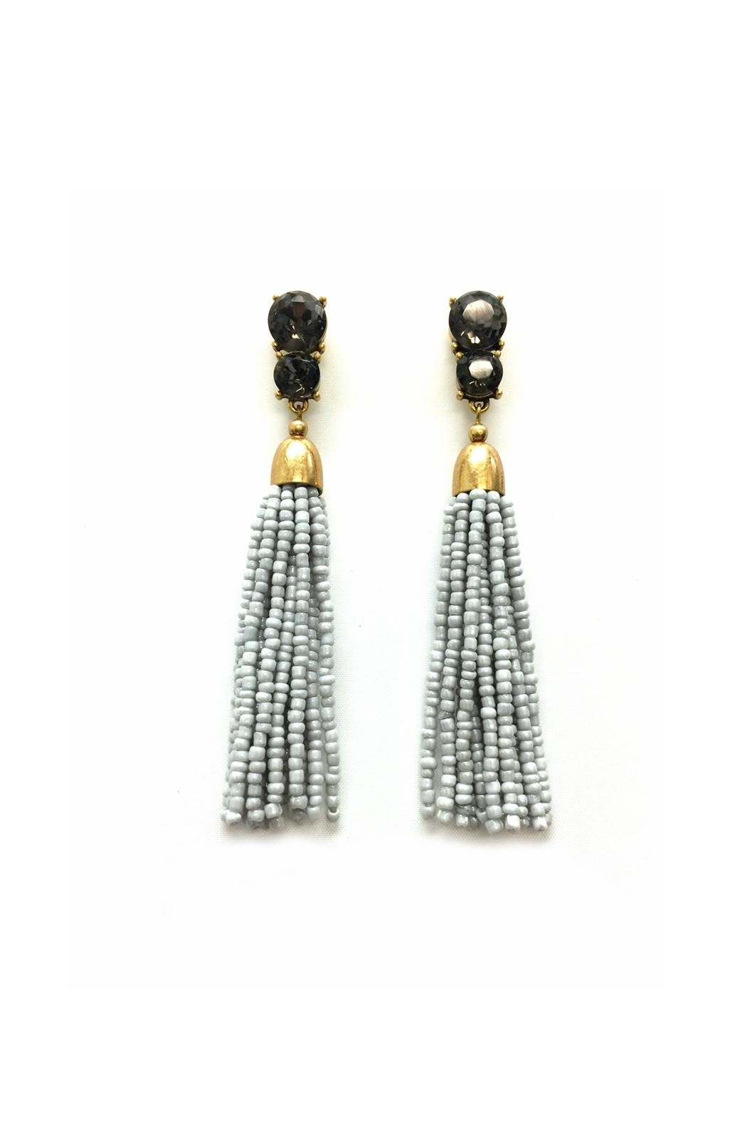 jchronicles seed bead tassel earring from shoptiques