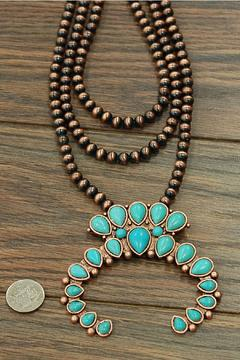 Shoptiques Product: Squash-Blossom Copper Necklace