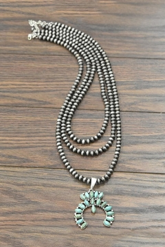 JChronicles Squash-Blossom Naja-Natural-Turquoise Necklace - Product List Image