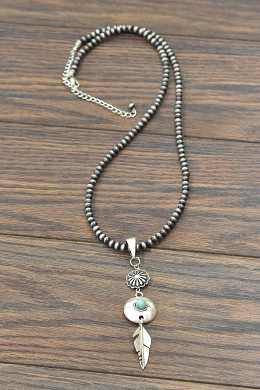 JChronicles Squash-Blossom Naja-Natural Turquoise-Necklace - Main Image