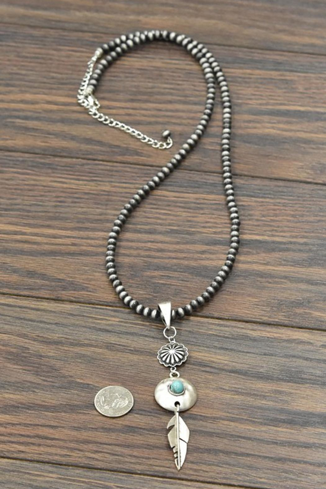 JChronicles Squash-Blossom Naja-Natural Turquoise-Necklace - Side Cropped Image