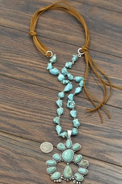 JChronicles Squash-Blossom Naja-Natural-Turquoise Necklace - Alternate List Image