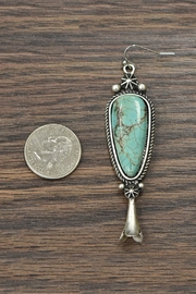 JChronicles Squash Blossom Natural Turquoise Earrings - Front full body