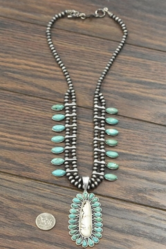 JChronicles Squash-Blossom Natural-Turquoise Necklace - Alternate List Image