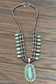 JChronicles Squash-Blossom Natural-Turquoise Necklace - Product Mini Image