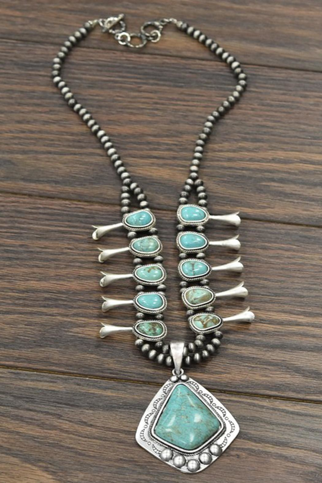 JChronicles Squash-Blossom Natural-Turquoise Necklace - Main Image