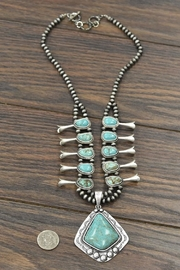 JChronicles Squash-Blossom Natural-Turquoise Necklace - Side cropped
