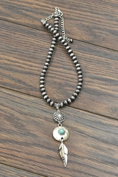 JChronicles Squash-Blossom Natural-Turquoise Pendant-Necklace - Product List Image