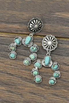Shoptiques Product: Squash-Blossom Natural-Turquoise Post-Earrings