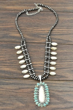 JChronicles Squash-Blossom Natural-White Turquoise-Necklace - Product List Image