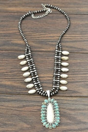 JChronicles Squash-Blossom Natural-White Turquoise-Necklace - Product Mini Image