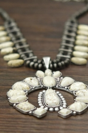 JChronicles Squash-Blossom Natural-White-Turquoise Necklace - Side cropped