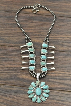 JChronicles Squash-Blossom Turquoise-Stone Necklace - Product List Image